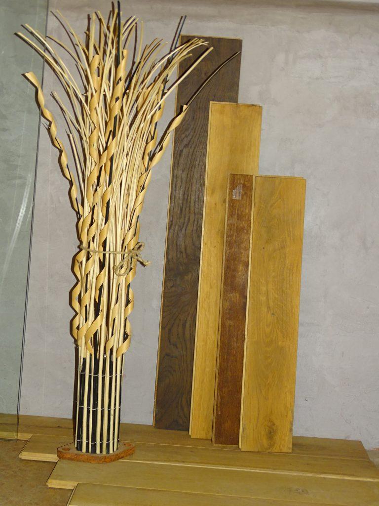 Verschiedene Dielen aus Holz